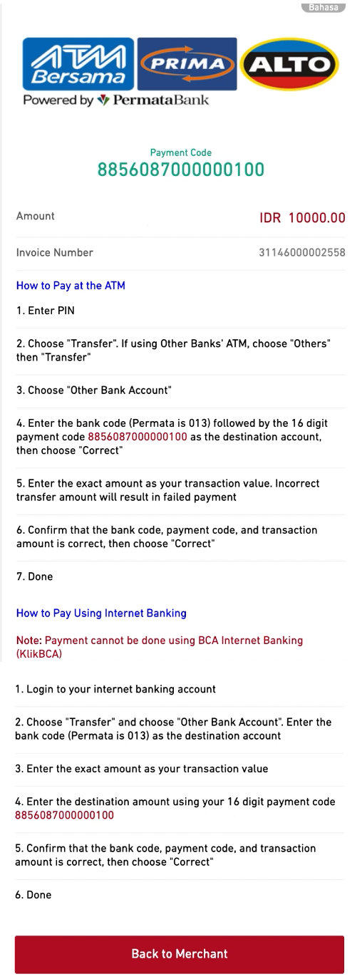 Atm Bank Transfer In Indonesia Virtual Accounts